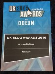 UKBlogAwards certificate